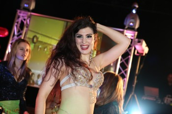 Bellydancer Rasha at a party in Oxford
