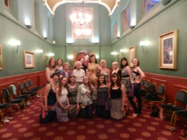 A bellydance hen party in Bristol with Rasha Nour