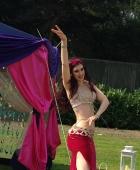 Rasha bellydances at a garden party in Wolverhampton