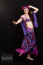 Oxford bellydancer Rachael in purple 10