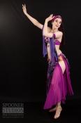 Oxford bellydancer Rachael in purple 9