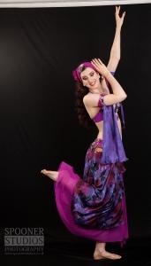 Oxford bellydancer Rachael in purple 8