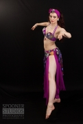 Oxford bellydancer Rachael in purple 6