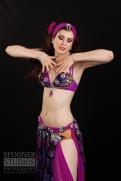 Oxford bellydancer Rasha Nour in purple 5