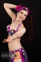 Oxford bellydancer Rachael in purple 3