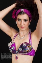 Oxford bellydancer Rasha Nour in purple 1