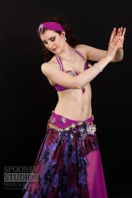 Oxford bellydancer Rasha Nour in purple 13