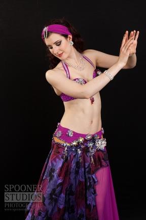 Oxford bellydancer Rachael in purple 13