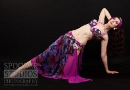 Oxford bellydancer Rachael in purple 16