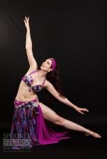 Oxford bellydancer Rasha Nour in purple 18