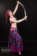 Oxford bellydancer Rachael in purple 19
