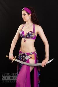 Oxford bellydancer Rachael in purple 21