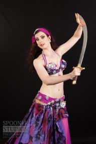 Oxford bellydancer Rasha Nour in purple 22