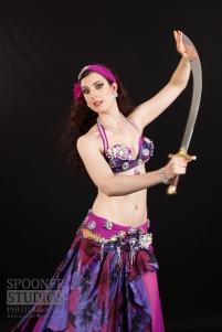 Manchester bellydancer Rachael in purple 22