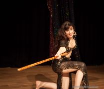Rachael performing a Saiidi stick dance at the OMEDS Winter Hafla 2012 in Oxford