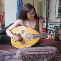 Rachael playing the oud