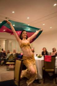 Bellydance performance by Rachael at a charity event in Oxford