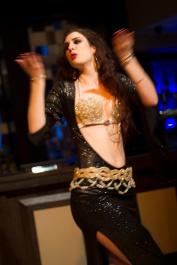 Rachael dances baladi style at the Hipnotic showcase in Reading, May 2014