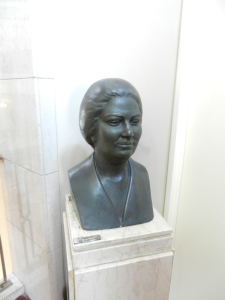 A bust of Oum Kalthoum at the Cairo opera house.
