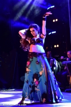Rachael bellydancing with live band at the Arab Quarterly in London, April 2016
