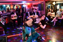 Dancing with the Baladi Blues ensemble at LondonLive festival